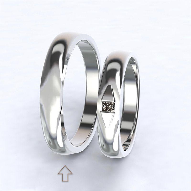 Pánský snubní prsten Ancona bílé zlato 14kt
