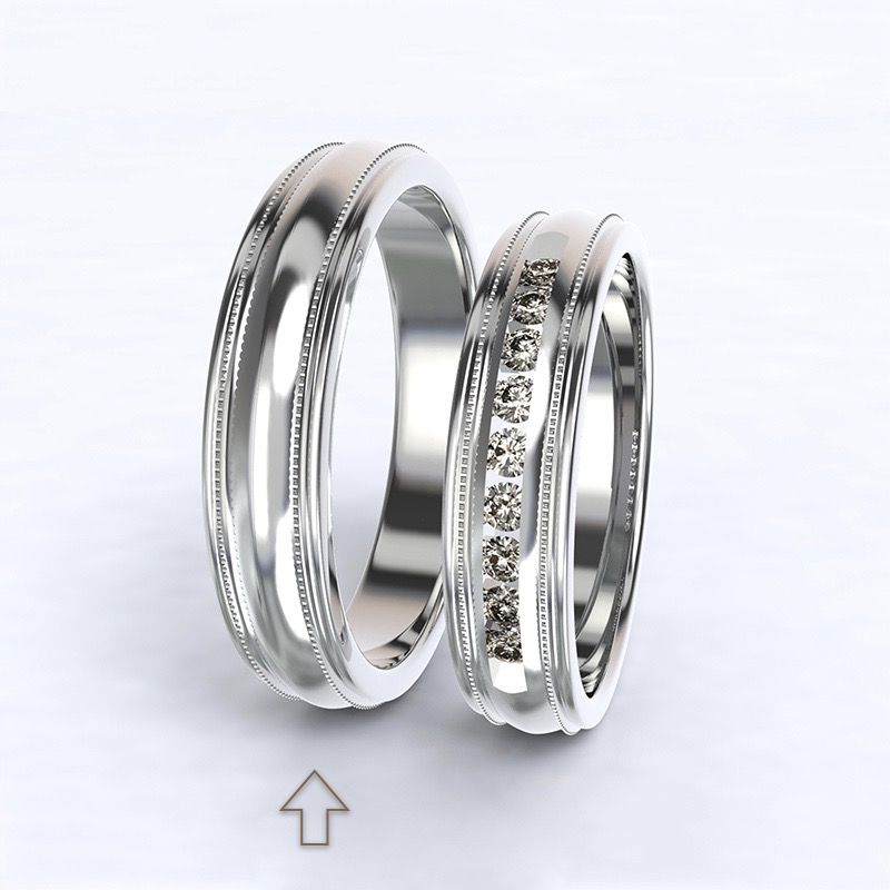 Pánský snubní prsten Avignon bílé zlato 14kt