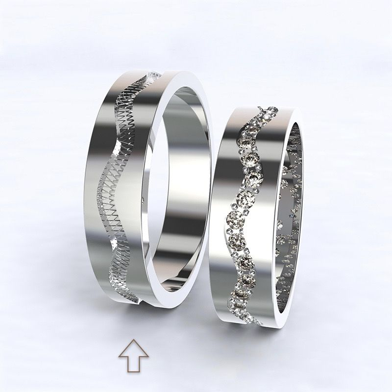 Pánský snubní prsten Cannes bílé zlato 14kt