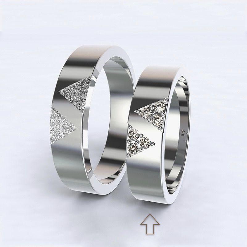 Dámský snubní prsten Agapé bílé zlato 14kt s diamanty - 65