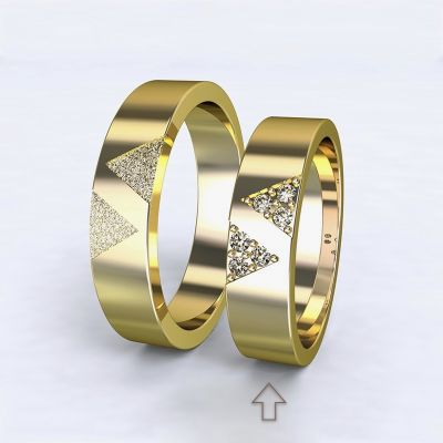 Dámský snubní prsten Agapé žluté zlato 14kt s diamanty