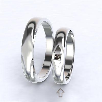 Dámský snubní prsten Ancona bílé zlato 14kt s diamantem