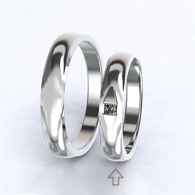 Dámský snubní prsten Ancona bílé zlato 14kt s diamantem - 55