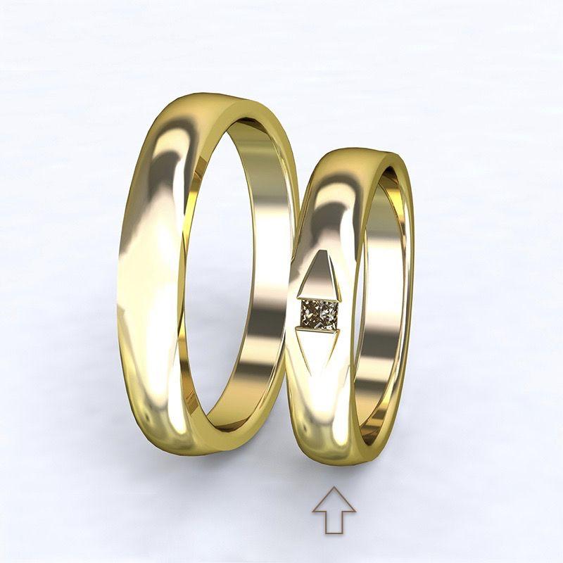 Dámský snubní prsten Ancona žluté zlato 14kt s diamantem