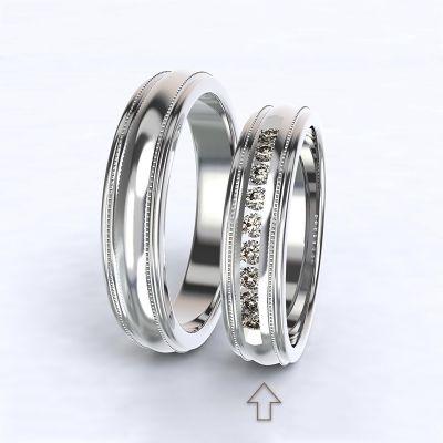 Dámský snubní prsten Avignon bílé zlato 14kt s diamanty