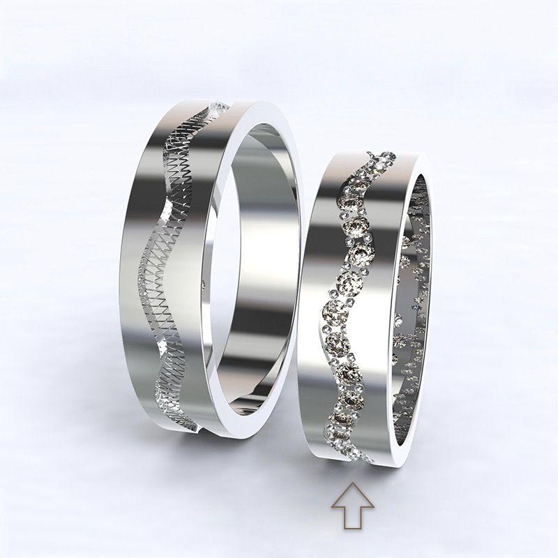 Dámský snubní prsten Cannes bílé zlato 14kt s diamanty