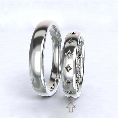 Dámský snubní prsten Cherish bílé zlato 14kt s diamanty