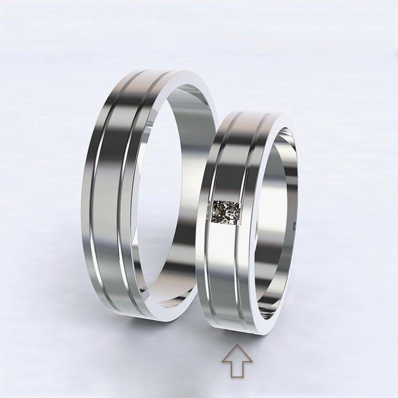Dámský snubní prsten Essential bílé zlato 14kt s diamantem