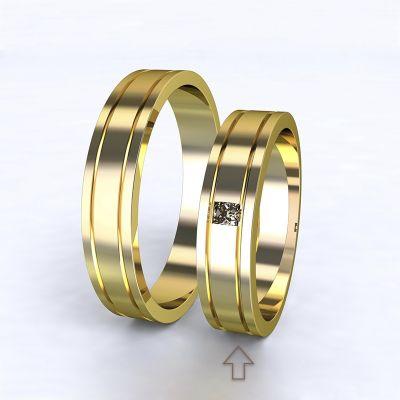 Dámský snubní prsten Essential žluté zlato 14kt s diamantem