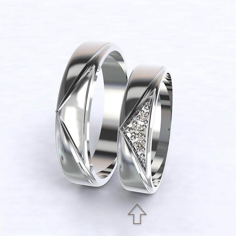 Dámský snubní prsten Fantasia bílé zlato 14kt s diamanty