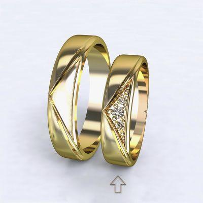 Dámský snubní prsten Fantasia žluté zlato 14kt s diamanty