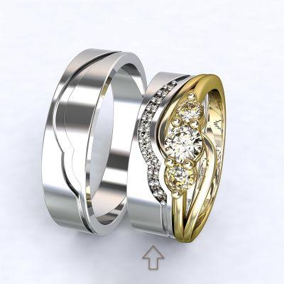 Dámský snubní prsten Florencie bílé zlato 14kt s diamanty
