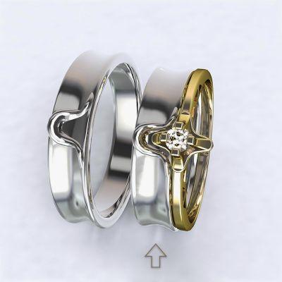 Dámský snubní prsten Lausanne bílé zlato 14kt