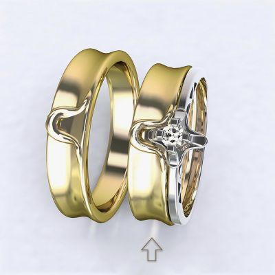 Dámský snubní prsten Lausanne žluté zlato 14kt