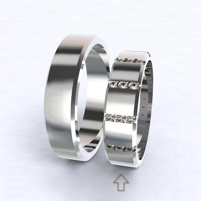 Dámský snubní prsten Legend bílé zlato 14kt s diamanty