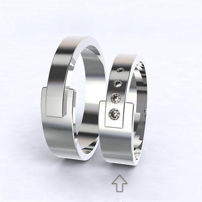 Dámský snubní prsten Loira bílé zlato 14kt s diamanty
