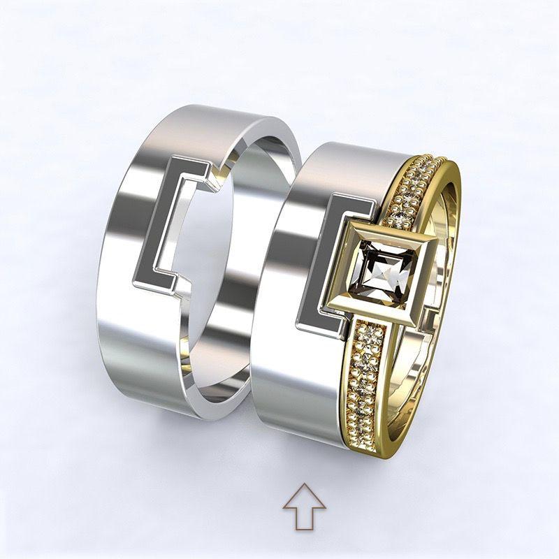 Dámský snubní prsten Marco bílé zlato 14kt