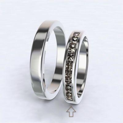 Dámský snubní prsten Nazareth bílé zlato 14kt s diamanty
