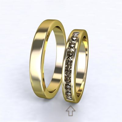 Dámský snubní prsten Nazareth žluté zlato 14kt s diamanty