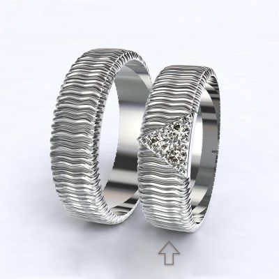 Dámský snubní prsten Nice bílé zlato 14kt s diamamnty