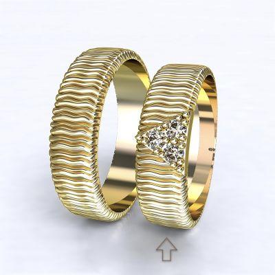 Dámský snubní prsten Nice žluté zlato 14kt s diamanty