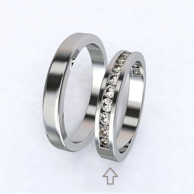 Dámský snubní prsten Precious bílé zlato 14kt s diamanty