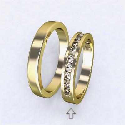Dámský snubní prsten Precious žluté zlato 14kt s diamanty