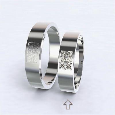 Dámský snubní prsten Purity bílé zlato 14kt s diamanty
