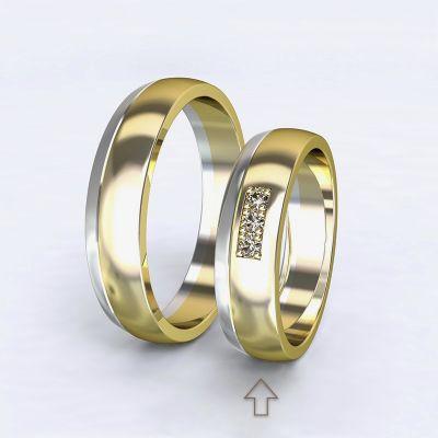 Dámský snubní prsten Rhôna bílé/žluté zlato 14kt s diamanty