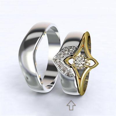 Dámský snubní prsten Roma bílé zlato 14kt s diamanty