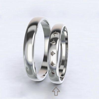 Dámský snubní prsten Special Moment bílé zlato 14kt s diamanty