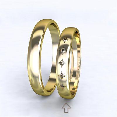 Dámský snubní prsten Special Moment žluté zlato 14kt s diamanty