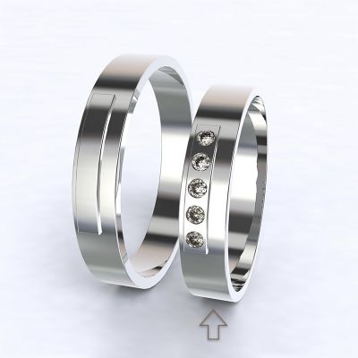 Dámský snubní prsten Terni bílé zlato 14kt s diamanty