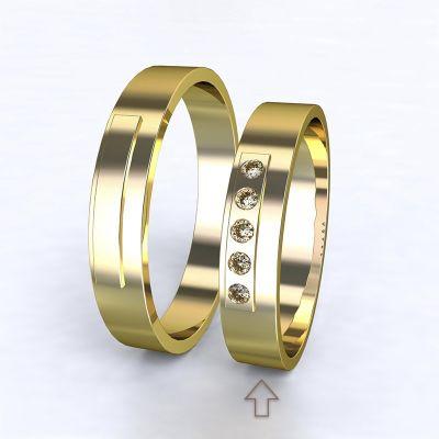Dámský snubní prsten Terni žluté zlato 14kt s diamanty