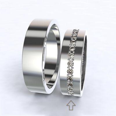 Dámský snubní prsten The Four Seasons bílé zlato 14kt s diamanty