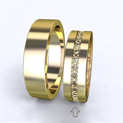 Dámský snubní prsten The Four Seasons žluté zlato 14kt s diamanty