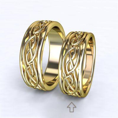 Dámský snubní prsten Tiberia žluté zlato 14kt