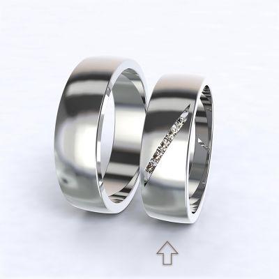 Dámský snubní prsten Trento bílé zlato14kt s diamanty