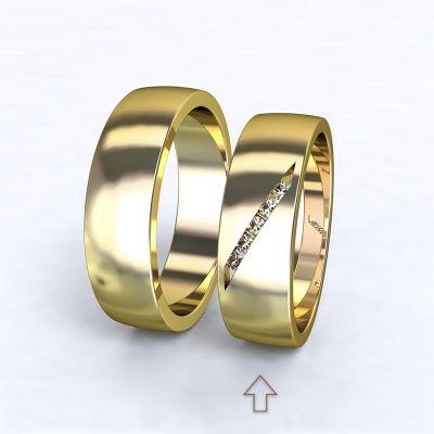 Dámský snubní prsten Trento žluté zlato14kt s diamanty