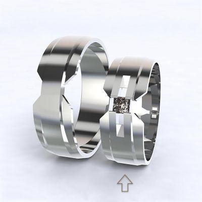 Dámský snubní prsten Venezia bílé zlato 14kt s diamantem