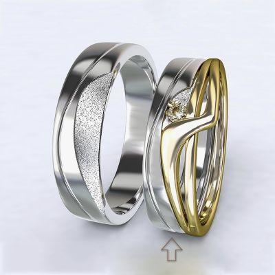 Dámský snubní prsten Yes bílé zlato 14kt
