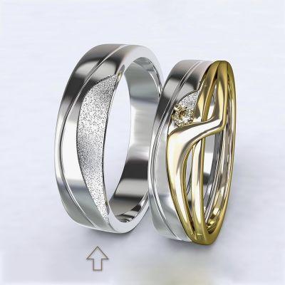 Pánský snubní prsten Yes bílé zlato 14kt