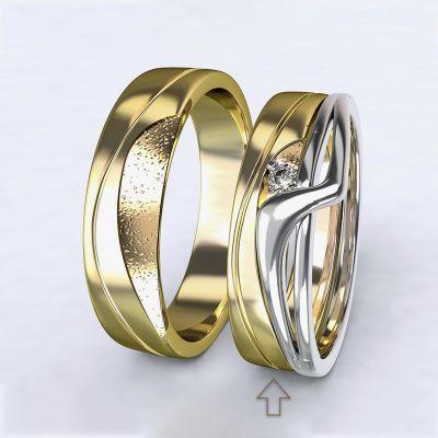 Dámský snubní prsten Yes žluté zlato 14kt
