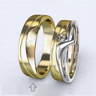 Pánský snubní prsten Yes žluté zlato 14kt