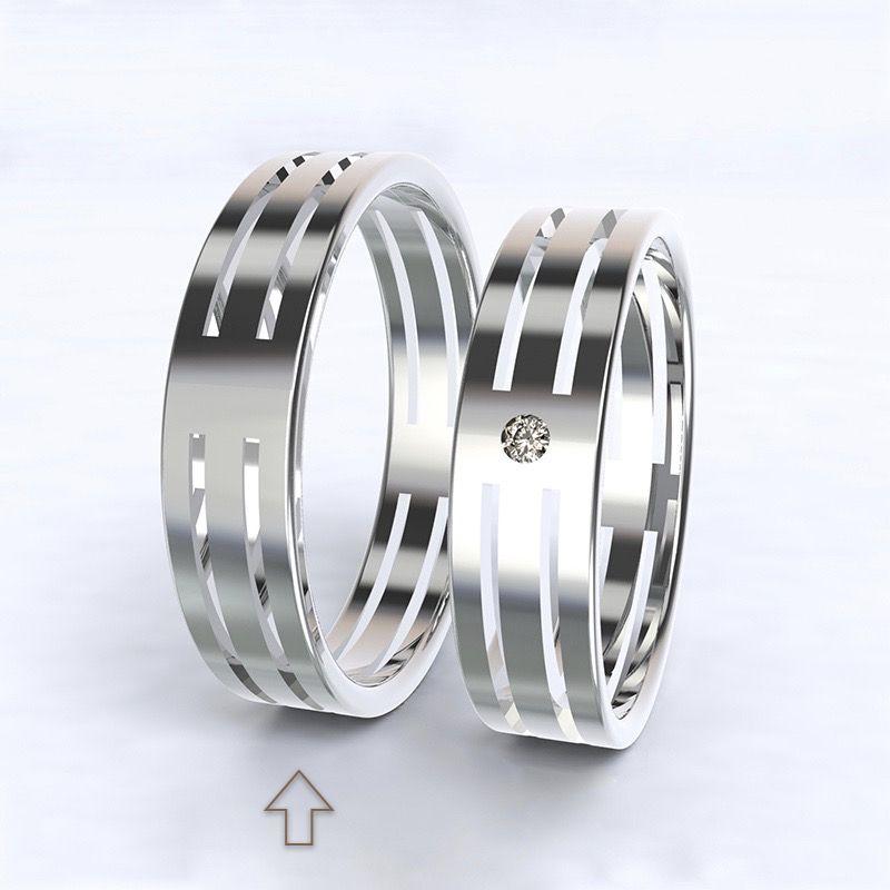 Pánský snubní prsten Elegance bílé zlato 14kt