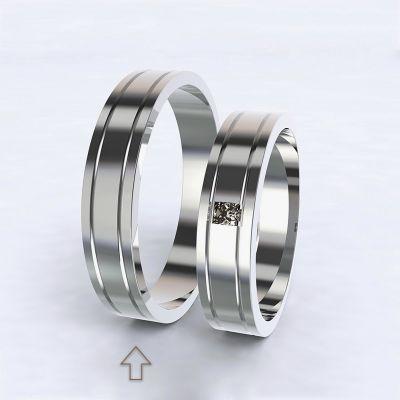 Pánský snubní prsten Essential bílé zlato 14kt