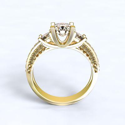 Prsten Nikea - žluté zlato 14kt s diamanty - 52