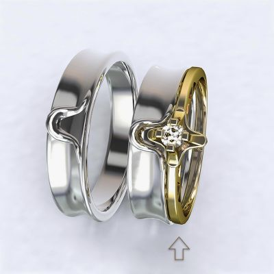 Zásnubní prsten Lausanne žluté zlato 14kt s diamantem