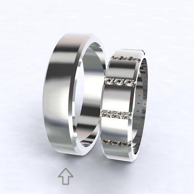 Pánský snubní prsten Legend bílé zlato 14kt