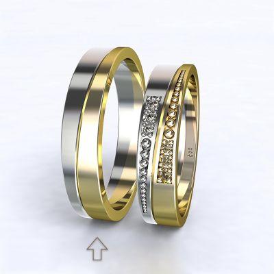 Pánský snubní prsten Marsellie bílé/žluté zlato 14kt